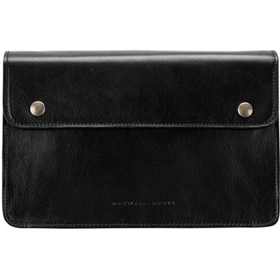 Top Quality Black Men S Leather Clutch Bag - Black - Maxwell Scott Bags Wallets