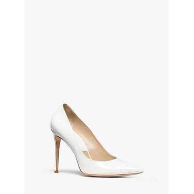 Michael Kors Gretel Patent Calf Leather Pump White 37