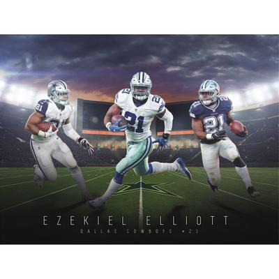 Dallas Cowboys Ezekiel Elliott Fathead Giant Removable Wall Mural