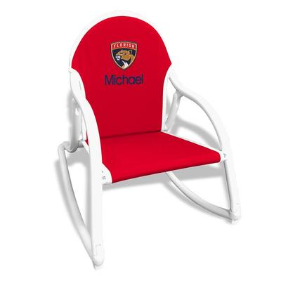 """""""Red Florida Panthers Children's Personalized Rocking Chair"""""""