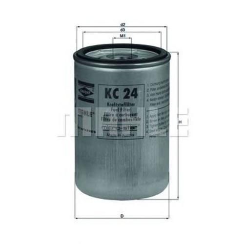 Mahle Knecht Kraftstofffilter Kc 24 ( Kc24 ) Case Ih: A77470, J903640, Caterpillar: 3i-1266, Caterpillar: 3i-1321, Caterpillar: 5w3394
