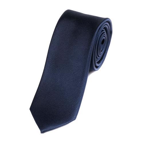 Große Größen Seiden-Krawatte Herren (Größe One Size, navy) | JP1880 Krawatten | Seide, 7,5 cm breit