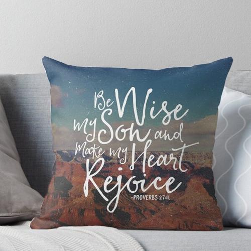 Make My Heart Rejoice Throw Pillow