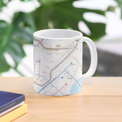 New York City subway map Mug