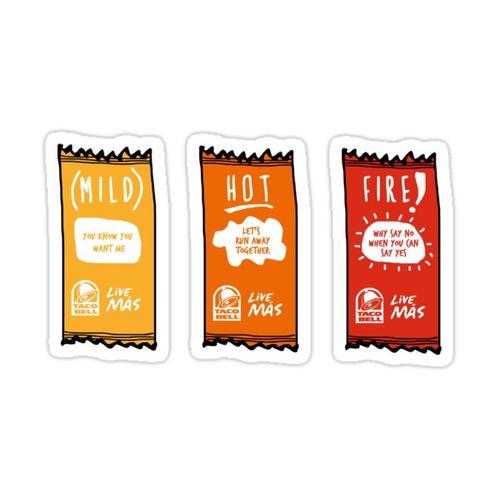 Taco Bell Sauce Sticker