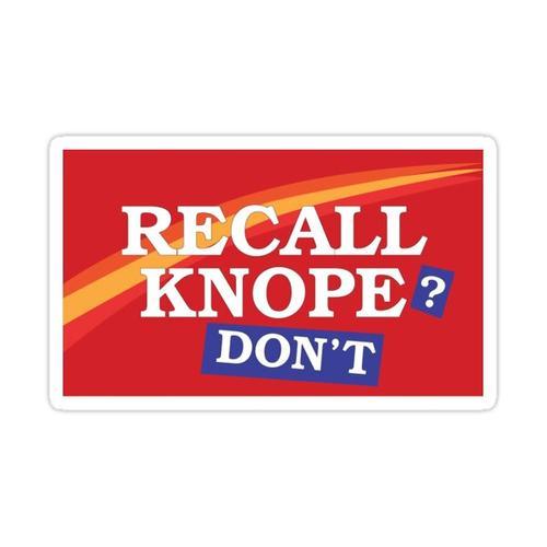 Recall Knope (? Don't) Sticker