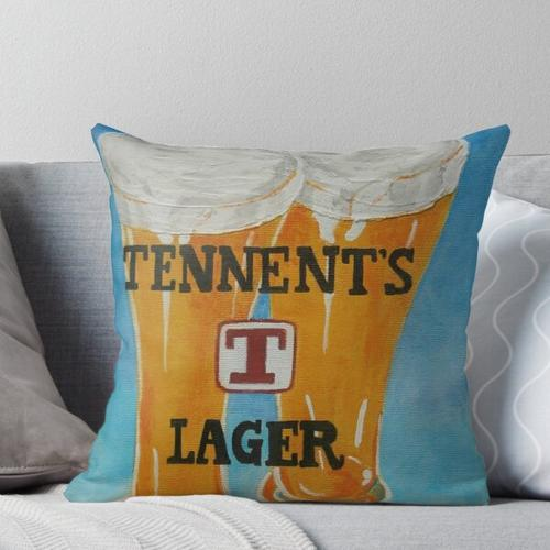Tennents Lager Throw Pillow