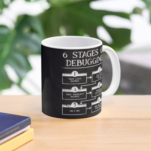 6 Stages Of Debugging Mug