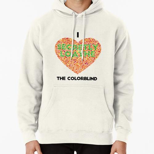 Ishihara Colorblind Test: I Heart the Colorblind (US spelling) Pullover Hoodie