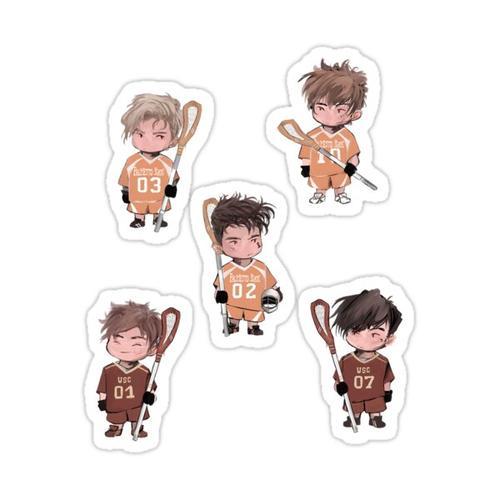 Mini Foxes Sticker Set Sticker