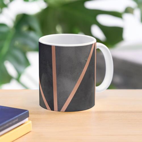 Black & Copper Geo Mug