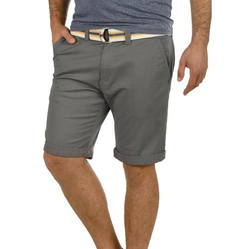 Solid Chinoshorts Lagos, (mit abnehmbarem Gürtel), kurze Hose mit Gürtel grau Herren Chinohosen Hosen