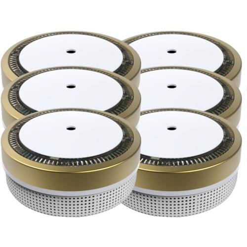Mini Rauchmelder RWM100-Gold 6er Set - 10 Jahres Batterie - VDS geprft - Jeising