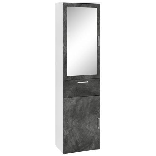 Paroli Garderobenschrank Susa, mit Spiegel weiß Garderobenschränke Garderoben