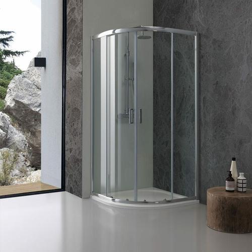 Runddusche 90 × 90 Modell Giada Aus Transparentem 6 Mm Kristallglas