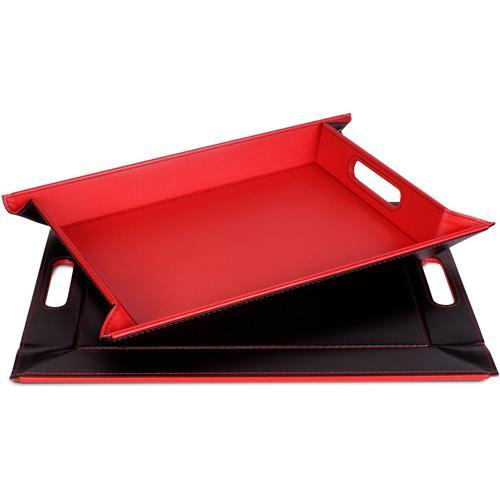 freeform Tablett, mit Doppelfunktion, 35 x 45 cm schwarz Tischaccessoires Geschirr, Porzellan Haushaltswaren Tablett