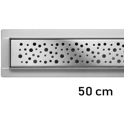Duschrinne Bodenablauf Modell Napo Edelstahl Siphon Ablaufrinne 50 cm