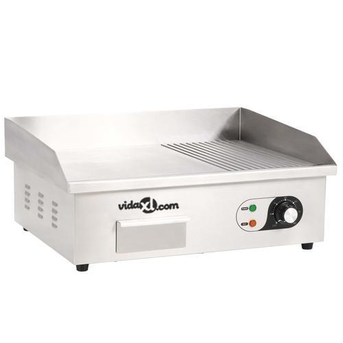 vidaXL Elektrische Grillplatte aus Edelstahl 3000 W 54x41x24 cm