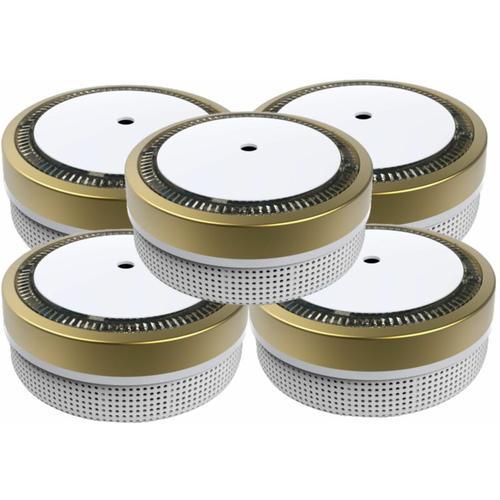 Mini Rauchmelder RWM100-Gold 5er Set - 10 Jahres Batterie - VDS geprft - Jeising
