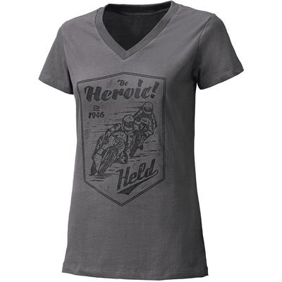 Held Be Heroic Ladies T-Shirt, grey, Size S for Women