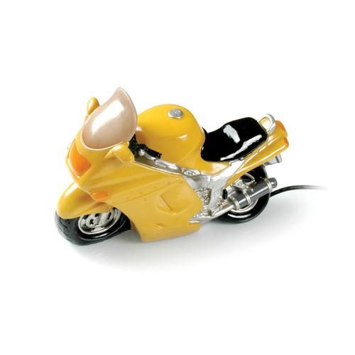Booster Tischlampe Motorrad, gelb