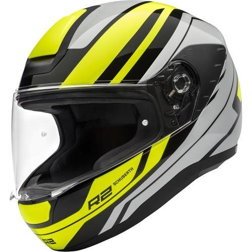 Schuberth R2 Enforcer Helm, grau-gelb, Größe XS
