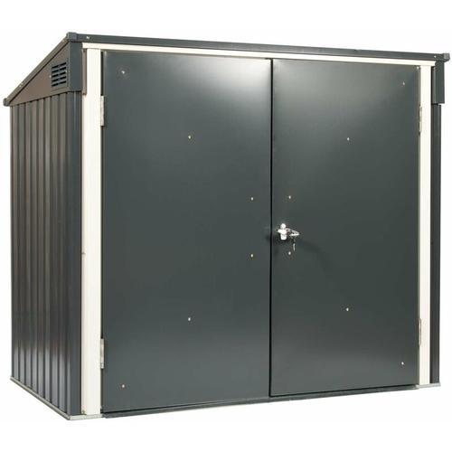 Dema - Tepro Metall Mülltonnenbox Gartenbox Müllbox Aufbewahrungsbox