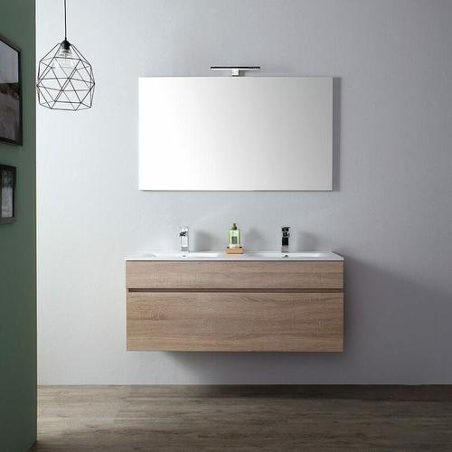 Badezimmermöbel 120 Cm Mit Doppelwaschbecken In Eiche I Sole