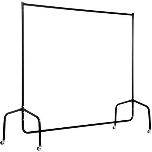 ® Kleiderständer und Wäscheständer | Rollgarderobe | Metall | 150 x 60 x 150 cm | Weiß - schwarz
