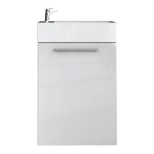 WC Badmöbel Athene 40x22 cm hochglanz weiß- Unterschrank Schrank Waschbecken Waschtisch Toilette