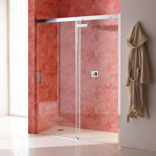 Duschtür Für Nische 130 Cm Mit Festem Element Rechts Aus Transparentem Kristallglas