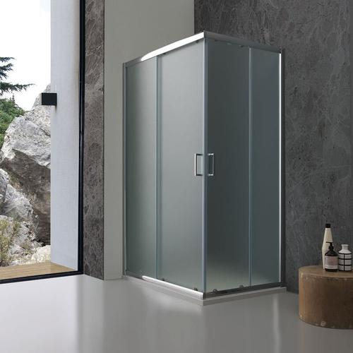 Rechteckige Duschkabine Modell Giada 70 × 120 Aus Mattem 6 Mm Kristallglas