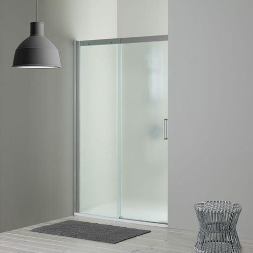 Duschtür Für Nische Mit Festem Element Links Aus Mattem Kristallglas 140 Cm