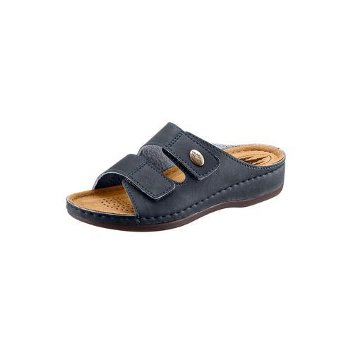 Franken-Schuhe Pantolette blau Damen Keilschuhe Sommerschuhe