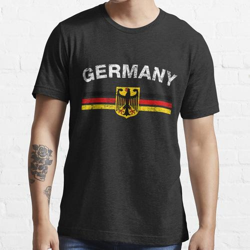 German Flag Shirt - German Emblem & Germany Flag Shirt Essential T-Shirt