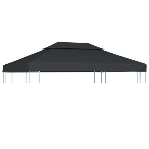 vidaXL Dachplane für Pavillon mit Kaminabzug 310 g/m² 4×3 m Anthrazit