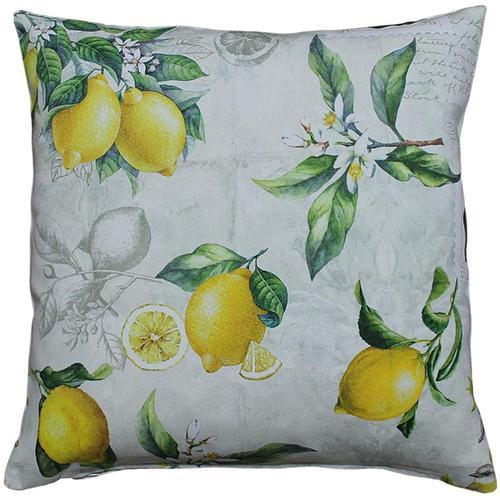 HOSSNER - HOMECOLLECTION Kissenhülle 32433 Zitrone, (2 St.) gelb Kissenbezüge gemustert Kissen