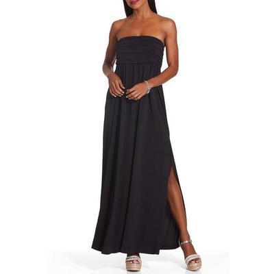 Boston Proper - Ruched Maxi Dress - Proper Black - X Small