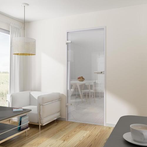 Tür Drehtür Glastür 834x1972 DIN links mit Beschlag ESG klar Wohnungstür - Tür + Beschlag DB03