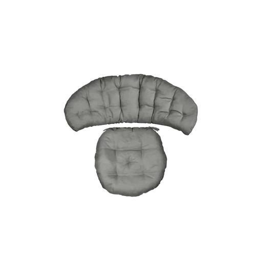MiaMöbel Kissen Set - Rattansessel 'Bahama' grau 100% Baumwolle Modern