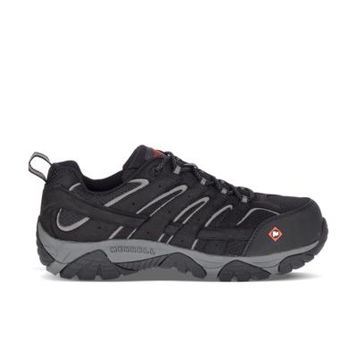 Merrell Men's Moab Vertex Vent Comp Toe Work Shoe, Size: 8, Black