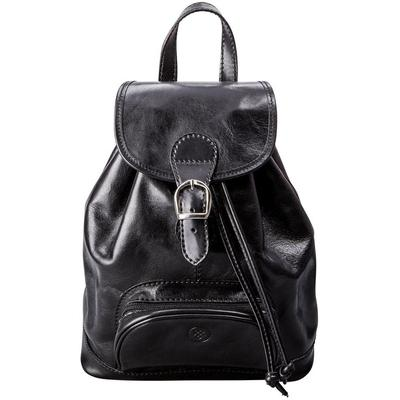 Sparano Leather Women Backpack - Black - Maxwell Scott Bags Backpacks
