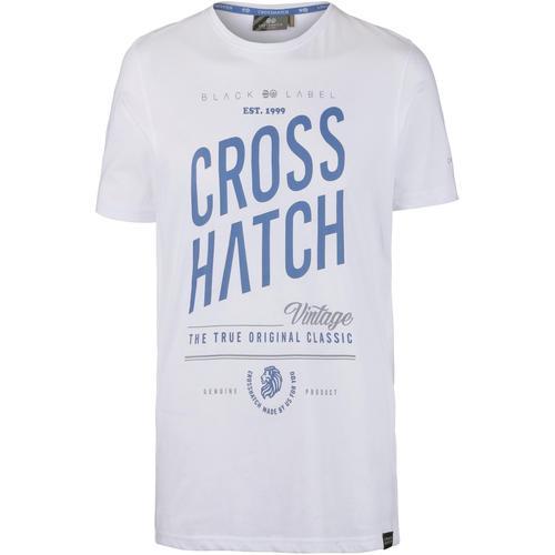 Crosshatch Fresan T-Shirt Herren in white, Größe L