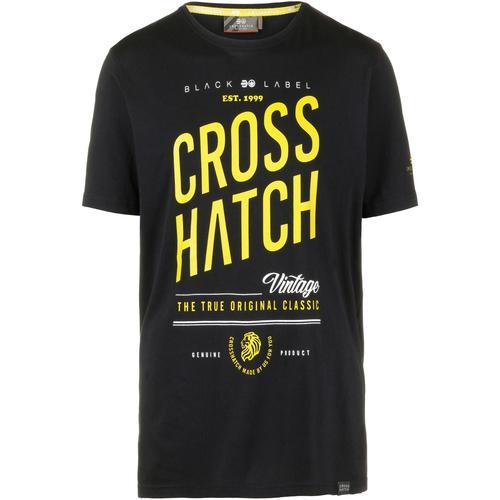Crosshatch Fresan T-Shirt Herren in black, Größe M