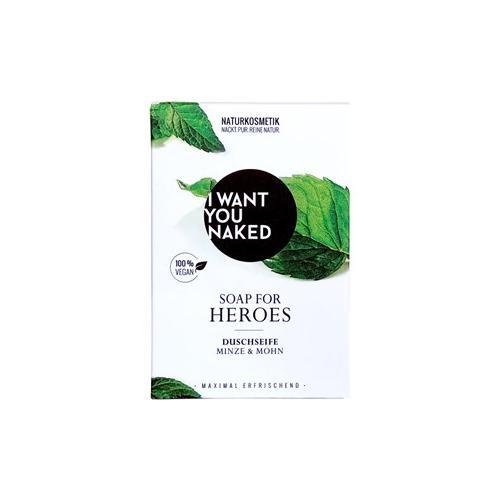 I Want You Naked Körperpflege Duschseife Minze & Mohn Duschseife 100 g