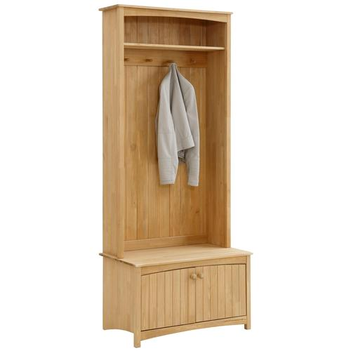 Home affaire Kompaktgarderobe Paula, aus massiver Kiefer beige Kompaktgarderoben Garderoben