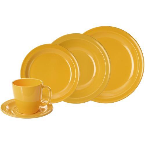 WACA Kombiservice, (Set, 10 tlg.) gelb Geschirr-Sets Geschirr, Porzellan Tischaccessoires Haushaltswaren Kombiservice