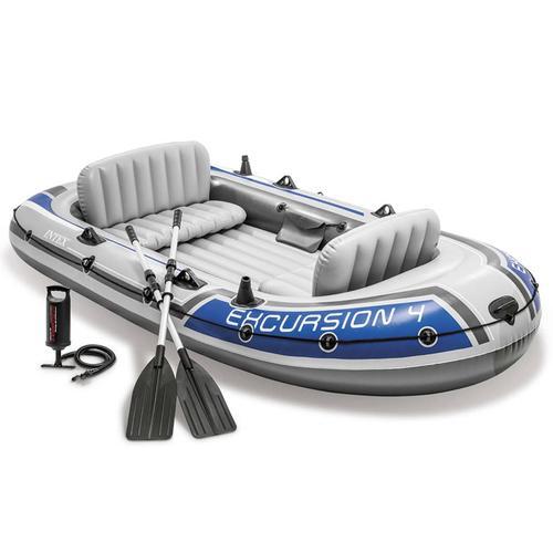 Intex Excursion 4 Schlauchboot-Set mit Rudern und Pumpe 68324NP