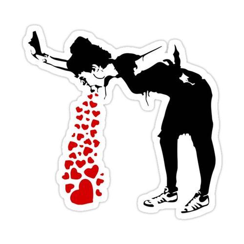 Lovesick - Banksy, Streetart Street Art, Grafitti, Artwork, Design For Men, Women, Kids Sticker