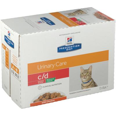 Hill's Prescription Diet™ c/d Aliment pour chat au poulet Calories réduites g sachet(s)